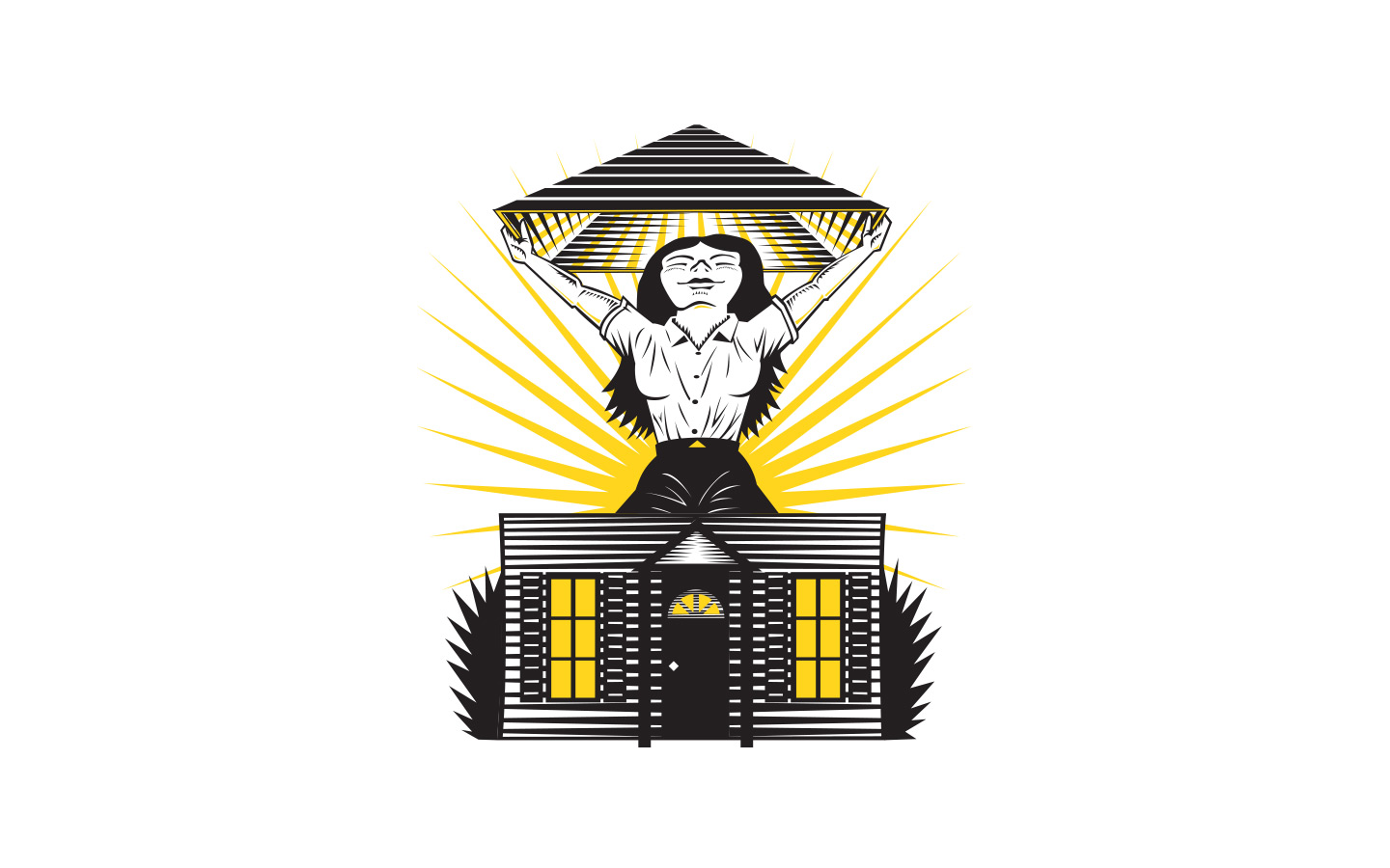 women's build house illustration salt lake city utah