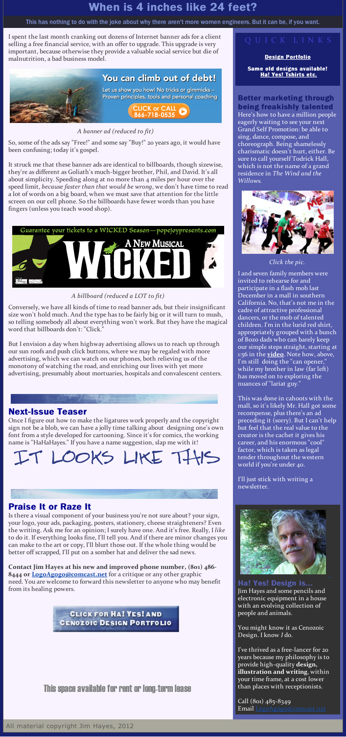 Newsletter #5 billboards banners flash mobs ha! yes!